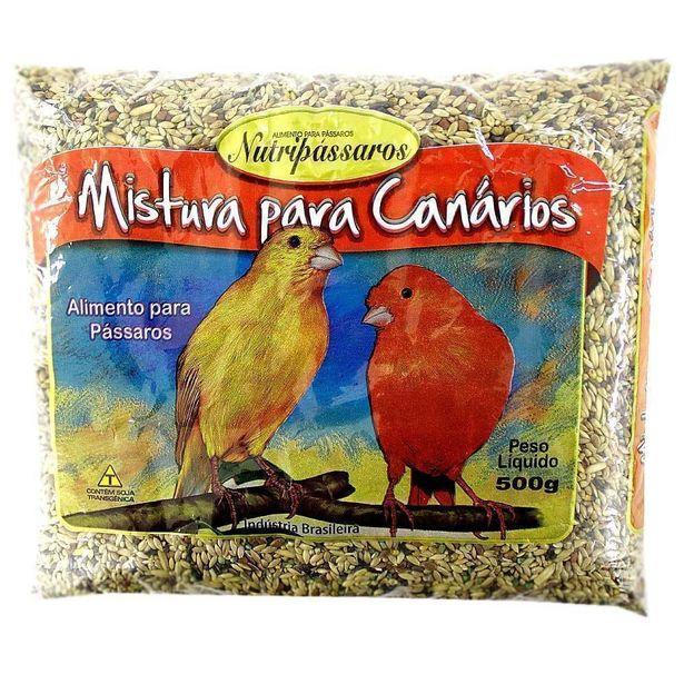 Oferta de Mistura para Canário Nutripássaros Sabor Mel 500g por R$6,5