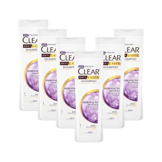 Oferta de Kit 6 Shampoos Clear Anticaspa Hidratação Intensa 400ml por R$143,95