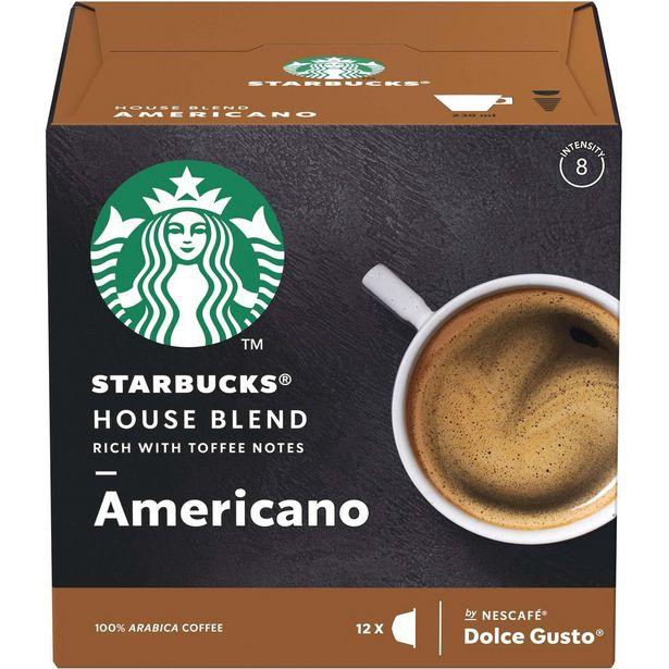 Oferta de Café em Cápsula STARBUCKS NESCAFÉ DOLCE GUSTO House Blend Americano 12 Cápsulas por R$24,5