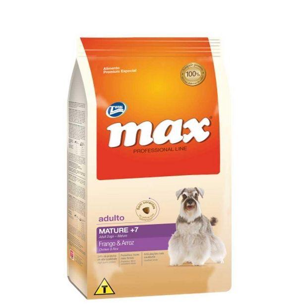 Oferta de Ração Max Cães Mature 7+ Frango e Arroz 2kg por R$36