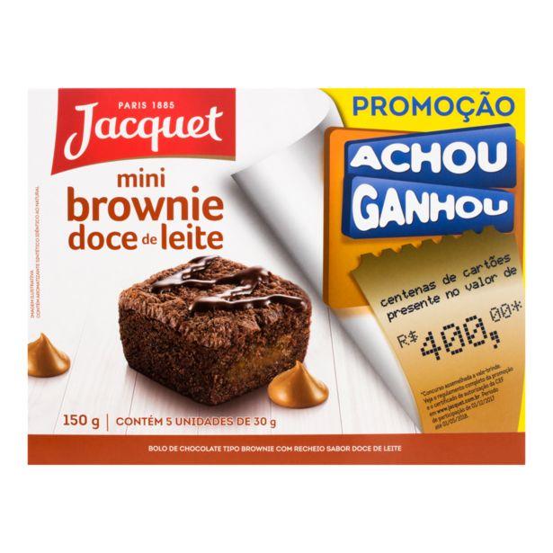 Oferta de Pack Mini Brownie com Recheio de Doce de Leite Jacquet Caixa 150g 5 Unidades por R$10,49