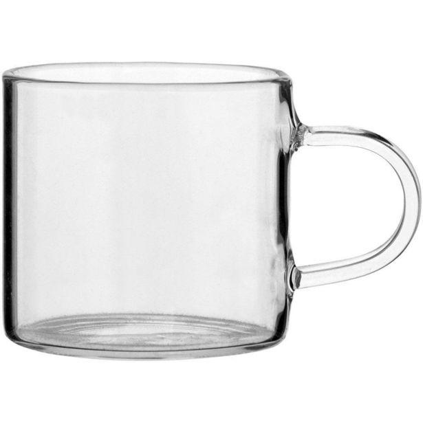 Oferta de Xícara Café 6 peças Transparente 75Ml Clear Borosilicato 5X5X8Cm por R$161,9