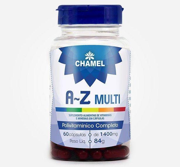 Oferta de AZ Multi ¿ Polivitamínico completo 60 capsulas de 1400mg CHAMEL por R$42,52