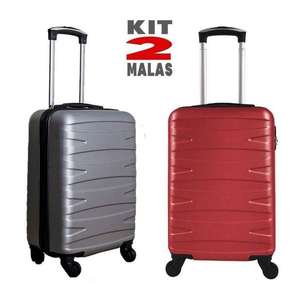Oferta de Kit c/ 2 Malas de Bordo Stile 18´´ - Cinza e Vermelha por R$499