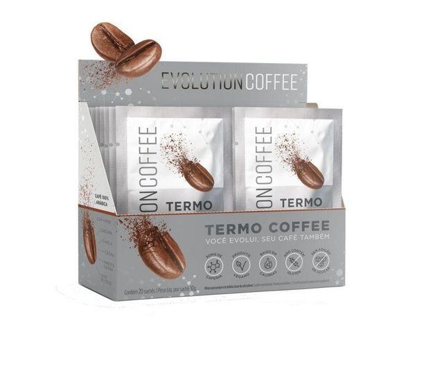 Oferta de Evolution Coffee Termo 20 sachês - Desinchá por R$107,52