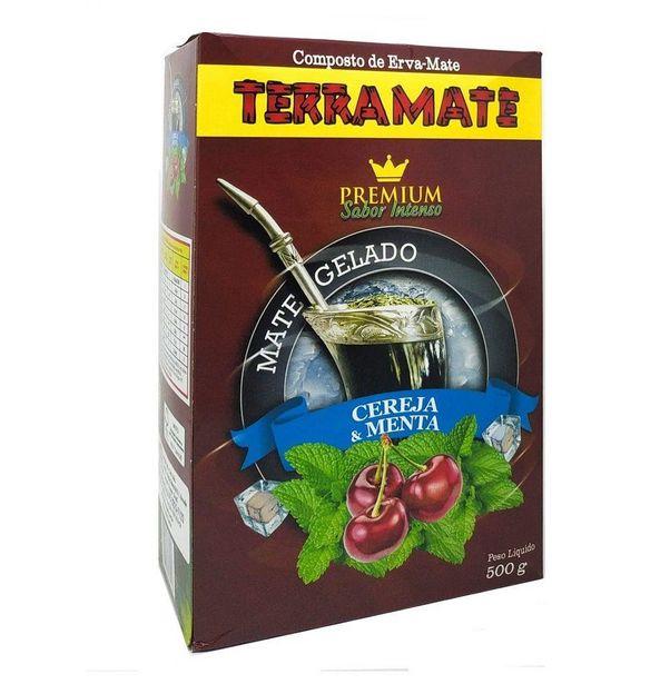 Oferta de Erva Mate Tereré Premium Terra Mate Cereja e Menta 500Gramas por R$8,07