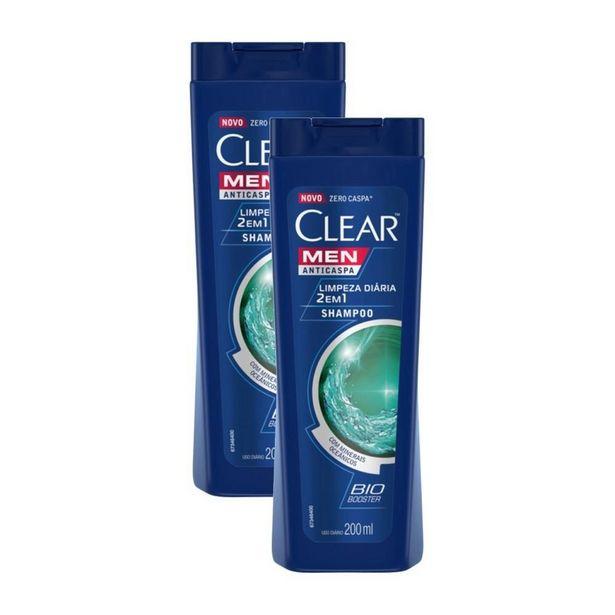 Oferta de Kit 2 Shampoos Anticaspa Clear Limpeza Diária 2 Em 1 200ml por R$31,32