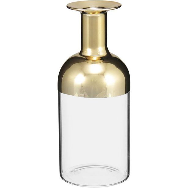 Oferta de Garrafa Decorativo Vidro Dourado Lalique 17X7X7Cm por R$111,9