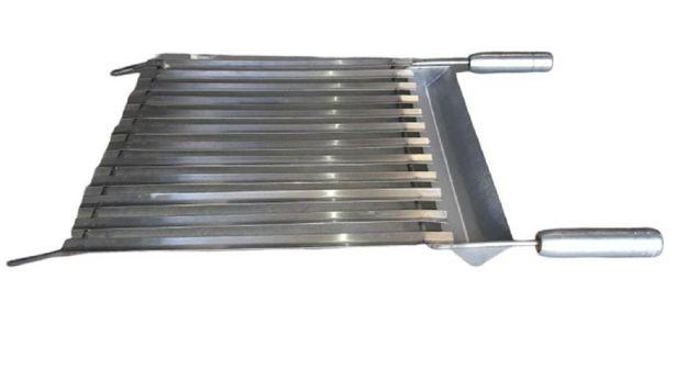 Oferta de Grelha Argentina em Aço Inox 30x70cm - ArteInoxx por R$294,99