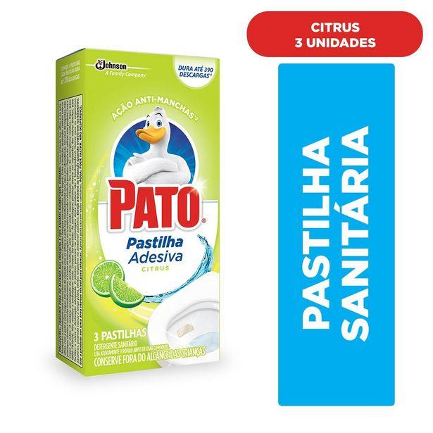 Oferta de Desodorizador Sanitário Pato Pastilha Adesiva Citrus 3 unidades por R$8,39