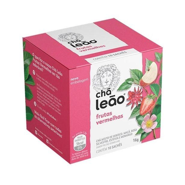 Oferta de Chá Leão Frutas Vermelhas Caixa 20g 10 Unidades por R$7,99
