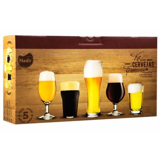 Oferta de Conjunto com 5 Copos para Cervejas Especiais por R$54,9
