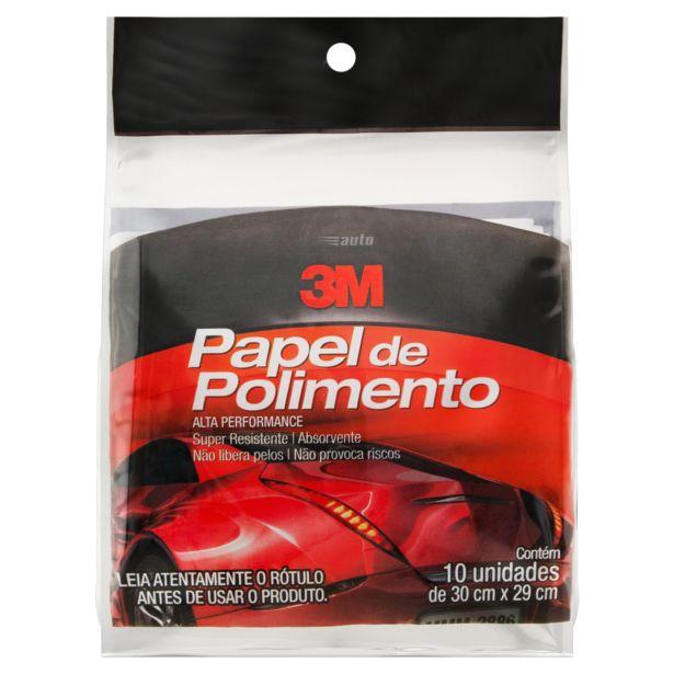 Oferta de Papel de Polimento 3M 30cm x 29cm 10 Unidades por R$12,9