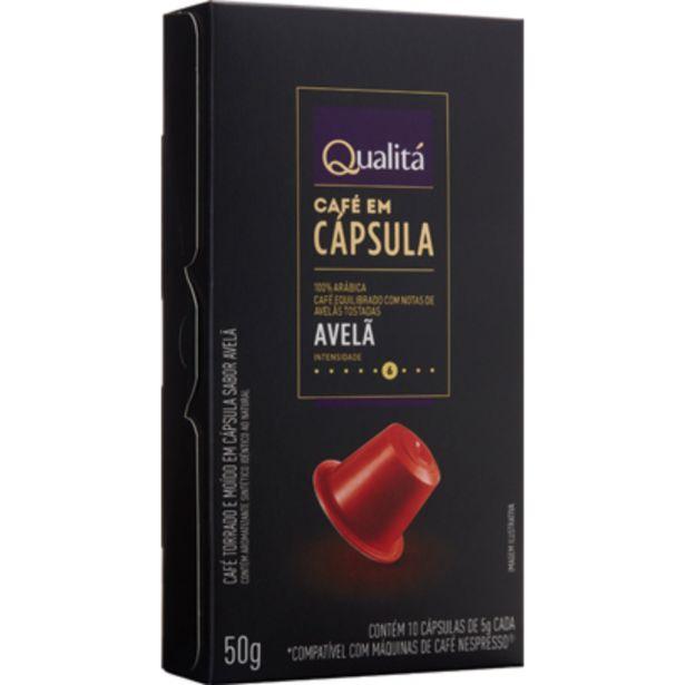 Oferta de Cápsula de Café Avelã QUALITÁ 50g por R$14