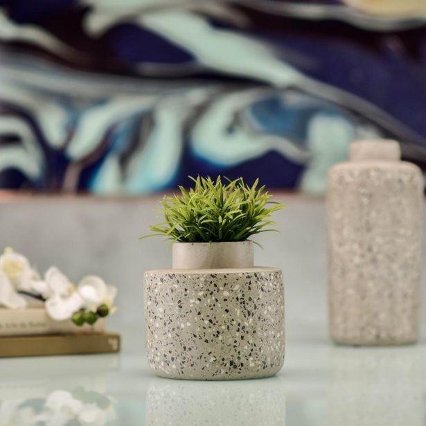 Oferta de Vaso de Cimento Cinza 14,5x15cm por R$89,99