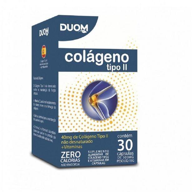 Oferta de Colágeno Tipo 2 Não Desnaturado Com Vitaminas 30 Cápsulas - Duom por R$57,99