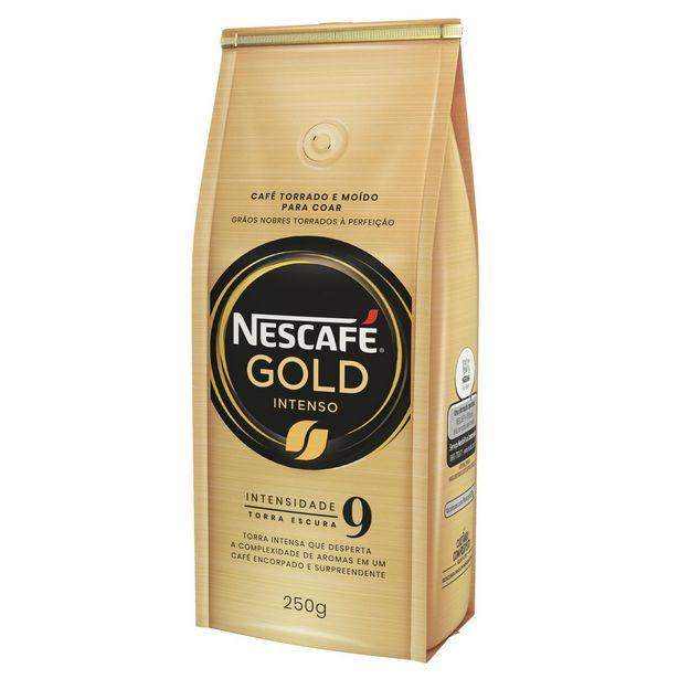 Oferta de Café Torrado e Moído NESCAFÉ Gold Intenso 250g por R$19,49