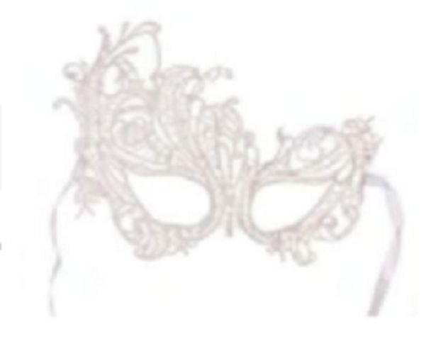 Oferta de Máscara Feminina Em Renda Phoenix Branca Baile Festas por R$18,49