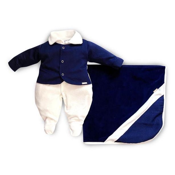 Oferta de Saída Maternidade Menino Príncipe Marinho - Maxibaby - Marinho - RN por R$99