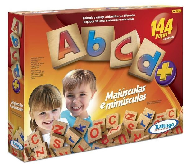 Oferta de Brinquedos Educativos - Abcd+ (144 Peças) - Xalingo por R$65,9