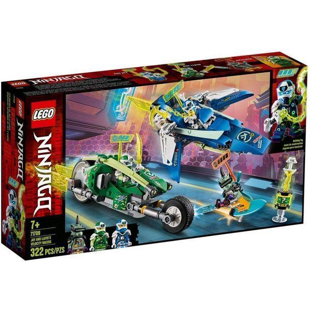 Oferta de LEGO Ninjago - Os Veículos de Corrida do Jay e do Lloyd - 71709 por R$221,99
