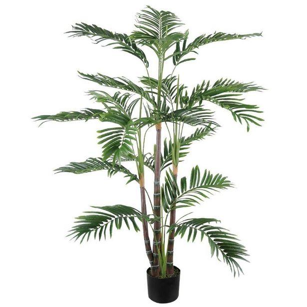 Oferta de Planta Artificial Palmeira com Pote 120cm por R$899,99