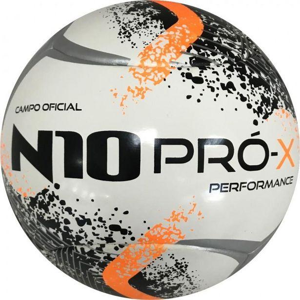 Oferta de Bola de Futebol de Campo N10Pró Performance Pto/Pra/Lar por R$99,9