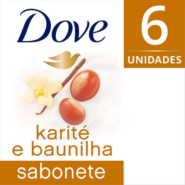 Oferta de Kit com 6 Sabonetes DOVE Karité e Baunilha 90g Cada por R$17,7
