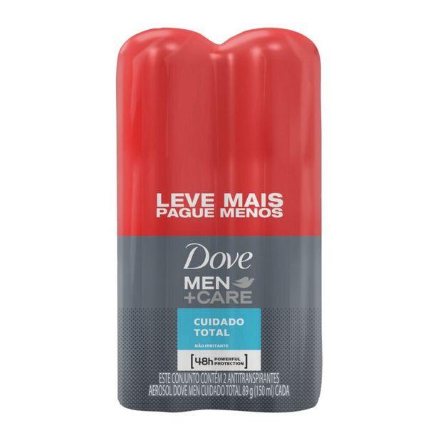 Oferta de Oferta Desodorante Antitranspirante Aerosol Dove Men+Care Cuidado Total 150ml - 2 Unidades por R$28,49