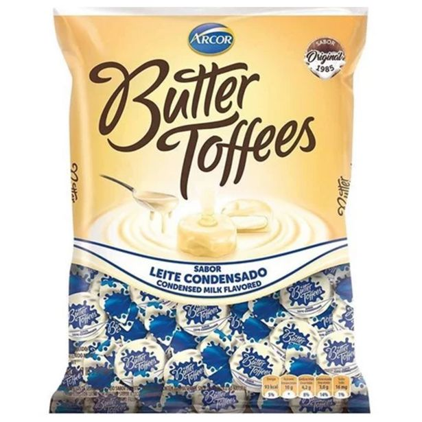 Oferta de Bala de Leite Condensado Butter Toffees Arcor 100g por R$4,69