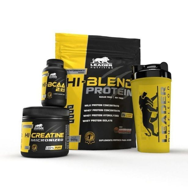 Oferta de Kit Hi-Blend Protein 900gr + Hi-BCAA 2:1:1 60 cáps + Hi-Creatina 150gr + Coq - Leader Nutrition por R$118,76