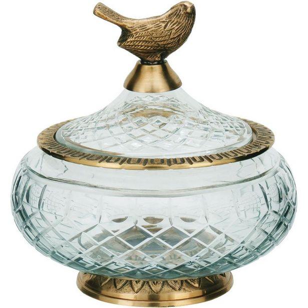 Oferta de Potiche 16X16X16Cm Vidro Dourado Home&Co Sancti por R$818,9