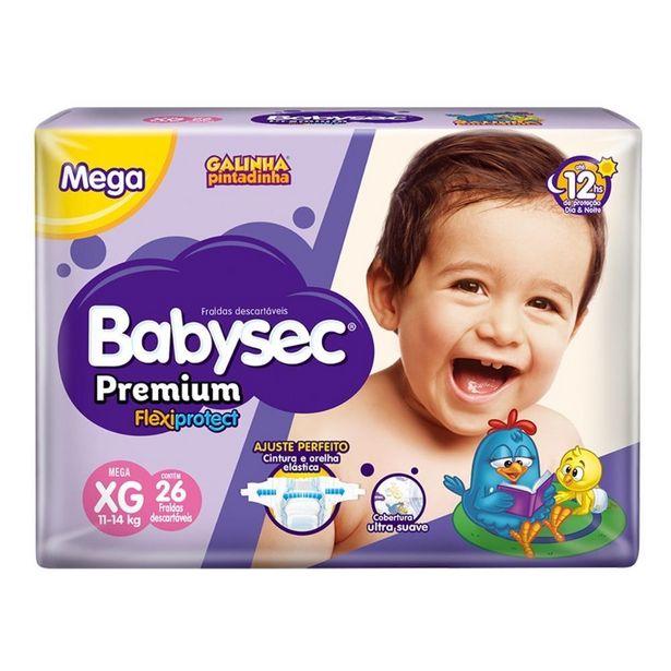 Oferta de Fralda Babysec Galinha Pintadinha Premium Xg Com 26 Fraldas por R$33,6