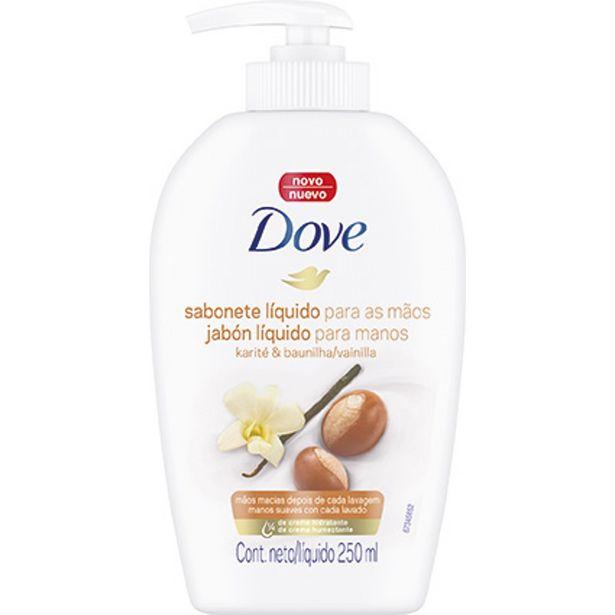 Oferta de Sabonete Líquido para Mãos Karité & Baunilha DOVE Frasco 250ml  por R$16,49