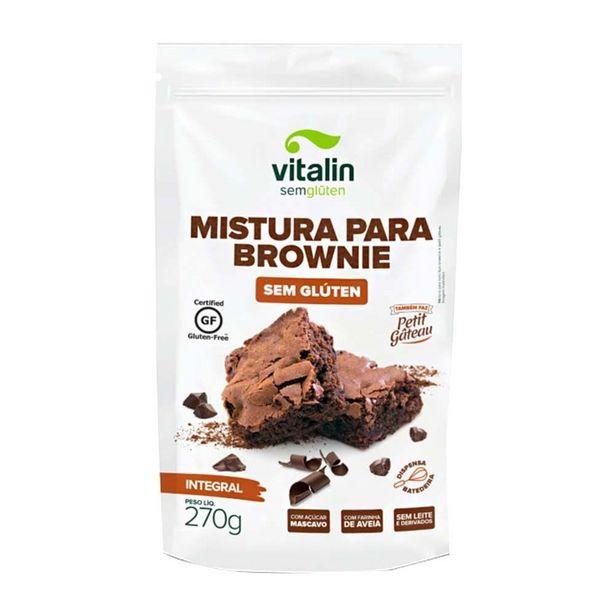 Oferta de Mistura Para Brownie Integral Sem Glúten Vitalin 270g por R$10,9