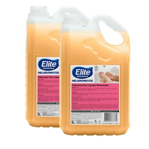 Oferta de Sabonete Líquido Elite Plus Floral 2 Galões Com 5L Cada por R$124,25