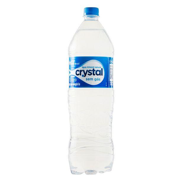 Oferta de Água Mineral Sem Gás Crystal PET 1,5L - Pack 8 Unidades por R$13,6