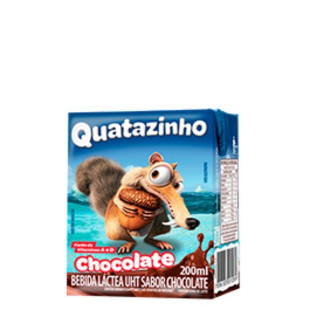 Oferta de Bebida Láctea Quatazinho Chocolate 200mL por R$0,89