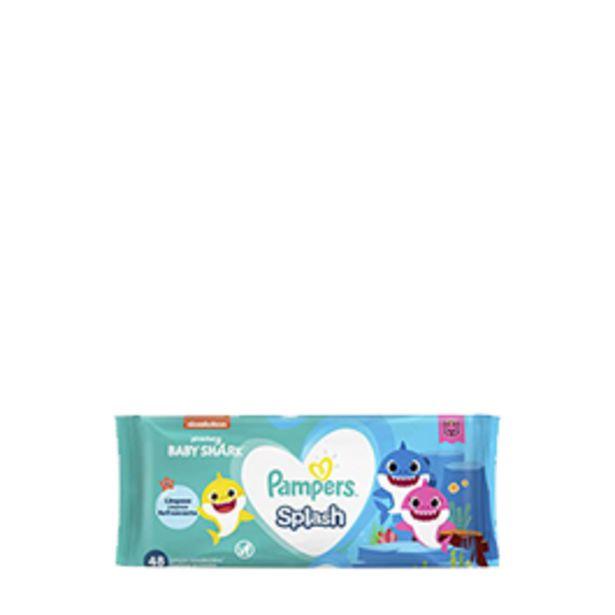 Oferta de Lenços Umedecidos Pampers Baby Shark 4 Pacotes com 48 unidades cada por R$29,9