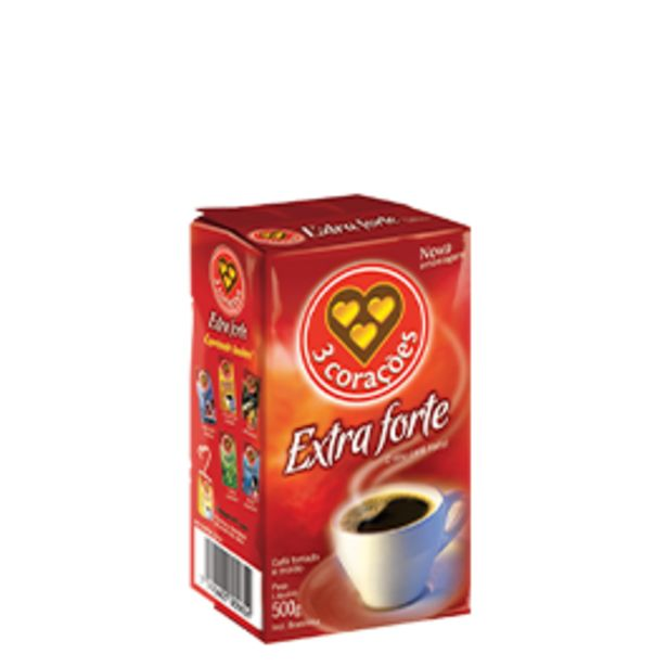 Oferta de Café 3 Corações Pacote 500g por R$8,99
