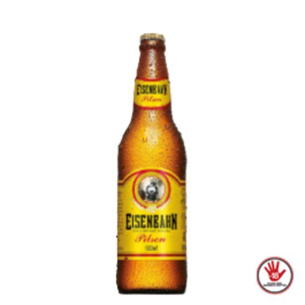 Oferta de Cerveja Eisenbahn Puro Malte Garrafa 600mL por R$5,99