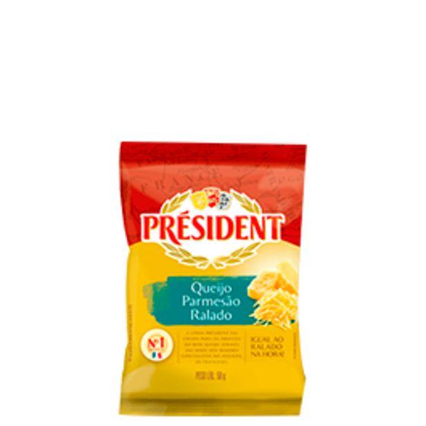 Oferta de Queijo Ralado President 50g por R$3,98