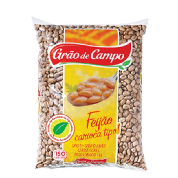 Oferta de Feijão Carioca Grão de Campo Pacote 1 kg por R$5,98