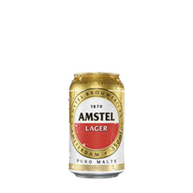 Oferta de Cerveja Amstel Lata 350mL por R$2,59