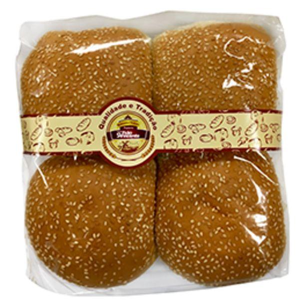 Oferta de Pão de Hamburguer com ou sem Gergelim cada 100g por R$1,39
