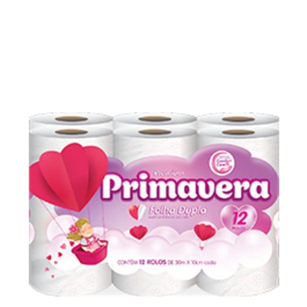 Oferta de Papel Higiênico Natural Folha Dupla Primavera 30m com 12 unidades por R$10,9