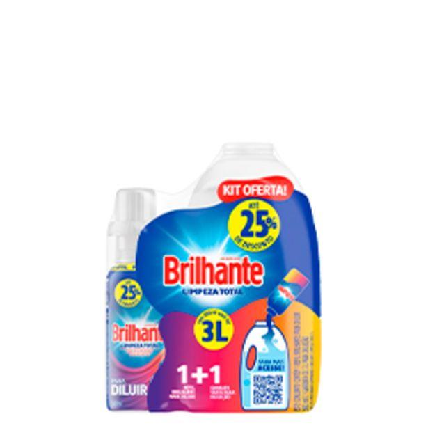 Oferta de Lava-roupas Líquido Brilhante Limpeza Total + Garrafa 500ml por R$19,9
