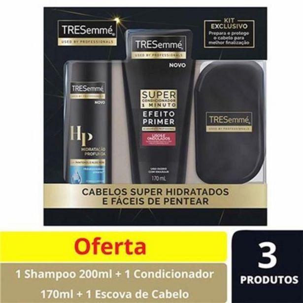 Oferta de Kit TRESemmé Shampoo Hidratação 200ml + Super C... por R$19,99