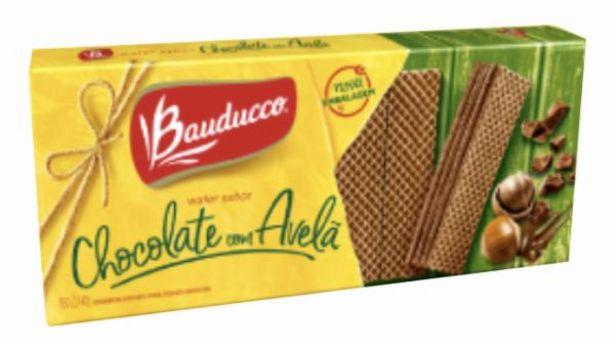 Oferta de Biscoito Bauducco Waffer 140g Chocolate com Avelã por R$2,49