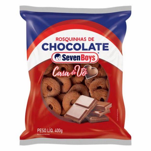 Oferta de BISC SEVENBOYS ROSQUINHA 400G CHOCOLATE por R$3,99